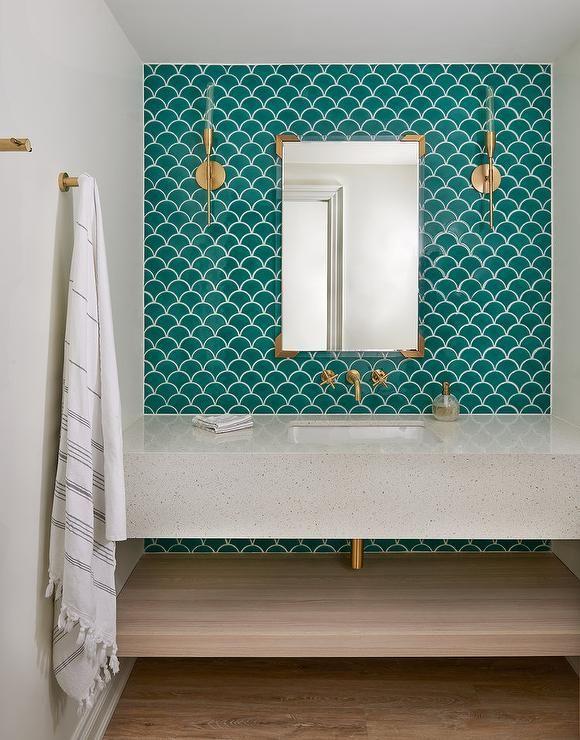 Dark Teal Bathroom Ideas | Houzz
