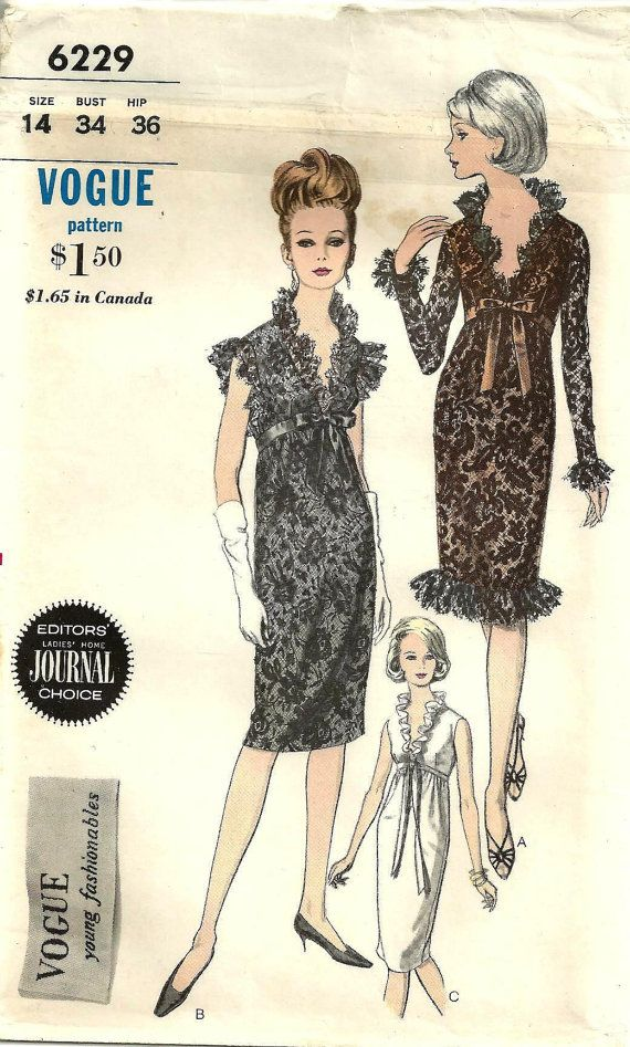 Reserved For Jennifer Please Vogue 6229 Lace Dress Vintage Couture