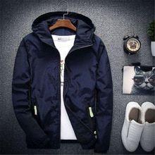 Nueva chaqueta Casual con capucha para hombre primavera