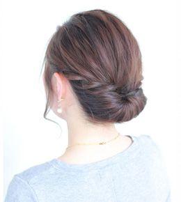 アラフォー 40代に似合う結婚式やパーティーの華やか簡単まとめ髪