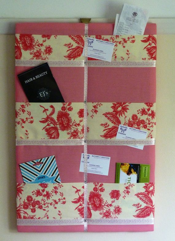 Fabric Memo Board Memo Holder Fabric Notice By ButterflyCreations4