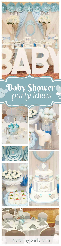 Pinterest Baby Shower Nino.Elephants Baby Shower Happy Joy It S A Boy Table
