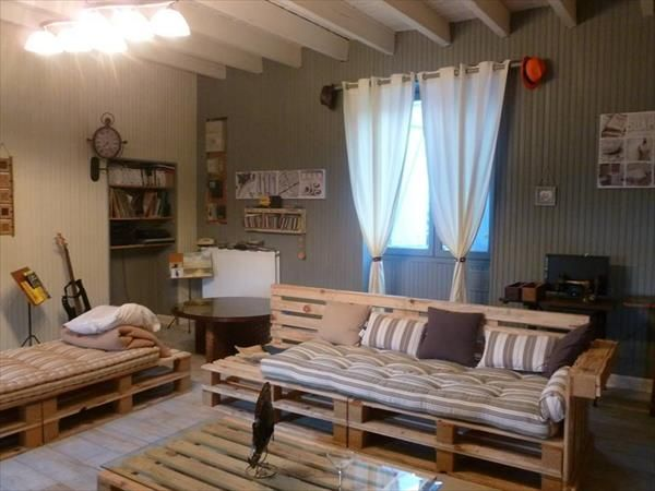 Diy Pallet Living Room Sitting Furniture Plans Pallet Diy Living
