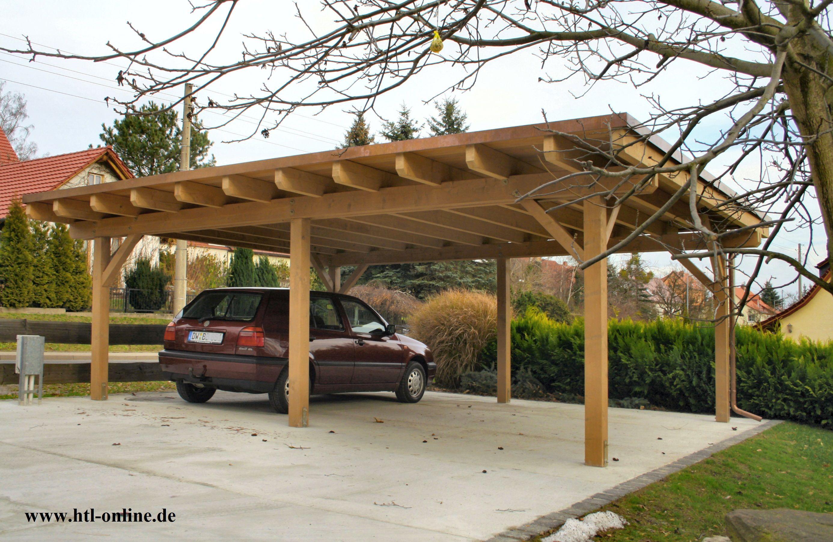 Carport Aus Holz Htl Holztechnik Holz Arbeit Mit Holz Carport Aus Holz Carport Holz Holzbau Konstruktion Carport