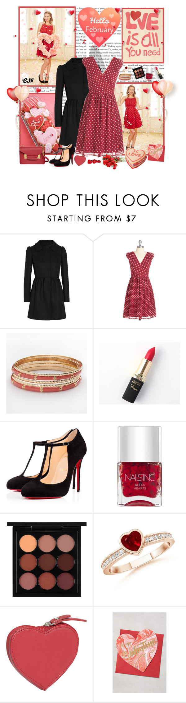 """Fall in Love with Lauren Conrad for February Birthdays"" by shiningstars17 ❤ liked on Polyvore featuring RED Valentino, LC Lauren Conrad, L'Oréal Paris, Christian Louboutin, Nails Inc., MAC Cosmetics, Clava, Sophie Hulme, women's clothing and women"