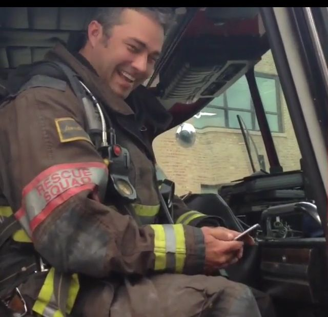 Severide On His Phone