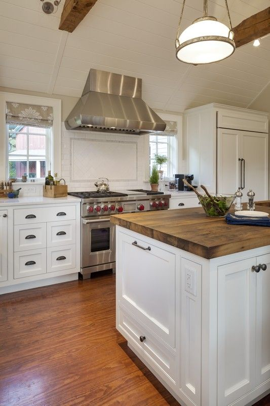 Concord Ma White Flat Panel Full Overlay Custom Pantry Cabinetry With Open Shelving And Wood Countertop Breakfast Room White Kitchen Cabinets Kitchen Cabinetry