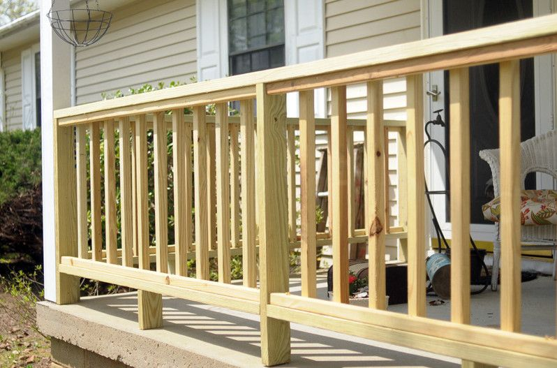 Front Porch Wood Railing Designs How To Manage The Front Porch