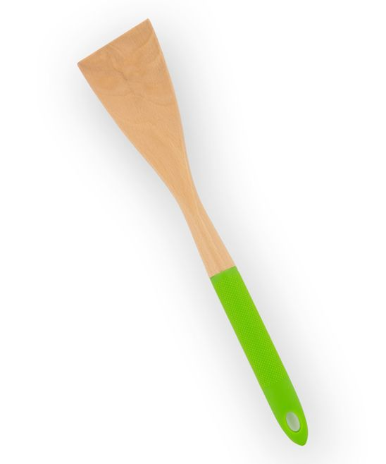Lime Green Wood & Silicone Turner