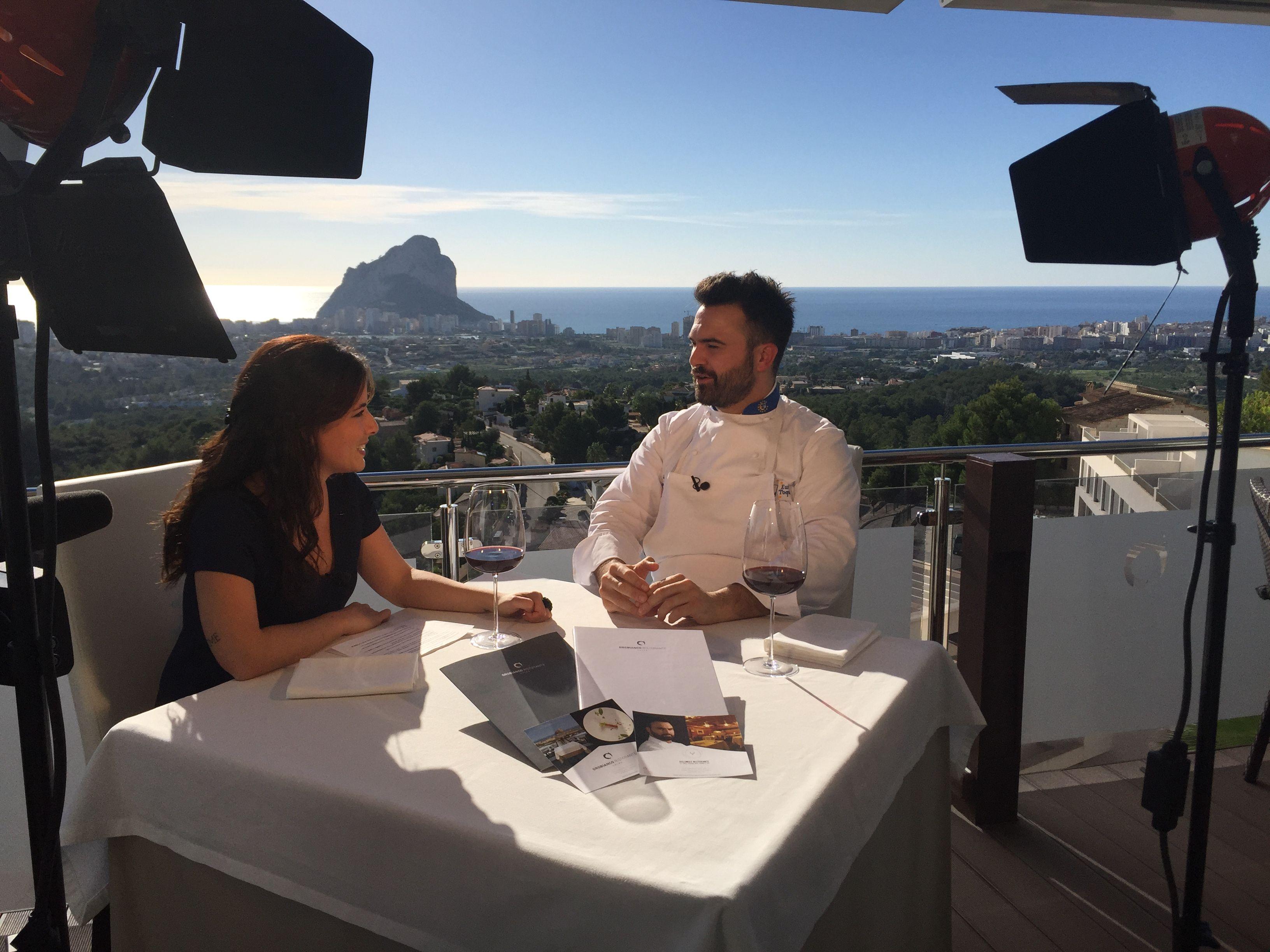 #MakingOff entrevista a Enrico Croatti desde las vistas privilegiadas que tenemos en Orobianco #Calpe. Próximamente el vídeo en nuestro canal YouTube. #RestauranteOroBianco #OroBianco #entrevista #EnricoCroatti
