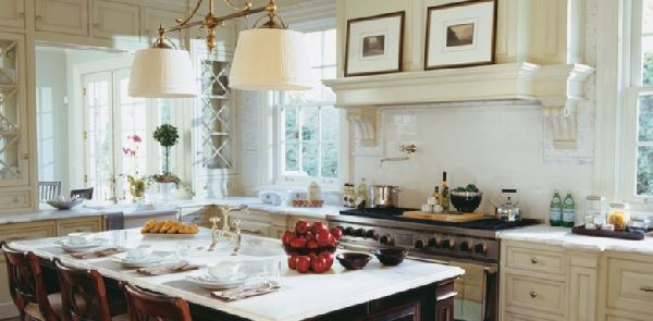 A Beautiful Christopher Peacock Kitchen With Cream White