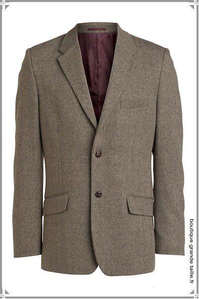 Veste en tweed homme avec coudiere