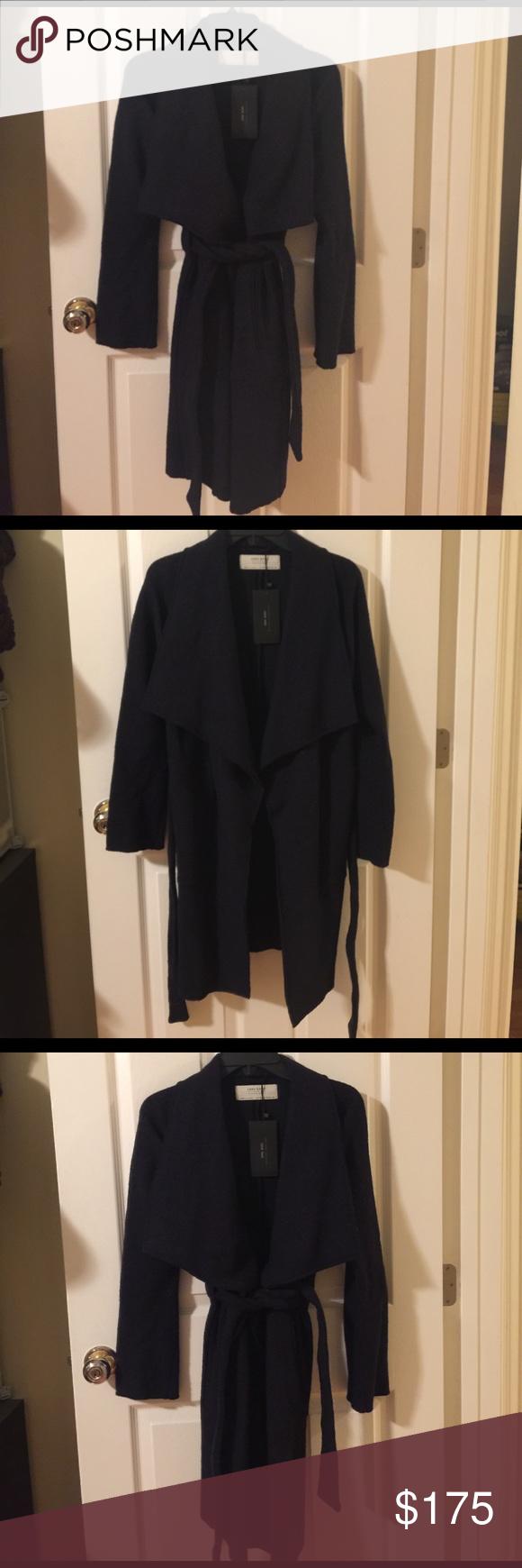 New with tag Zara navy blue Drape coat New with tag Zara Drape coat. Navy blue color. Zara Jackets & Coats