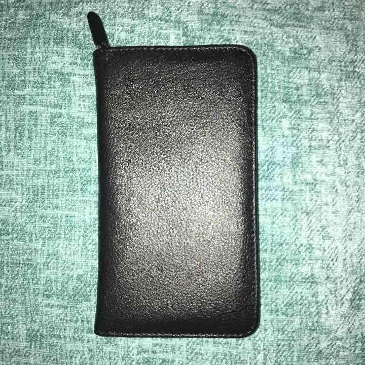 Leather debit card check book wallet mercari anyone