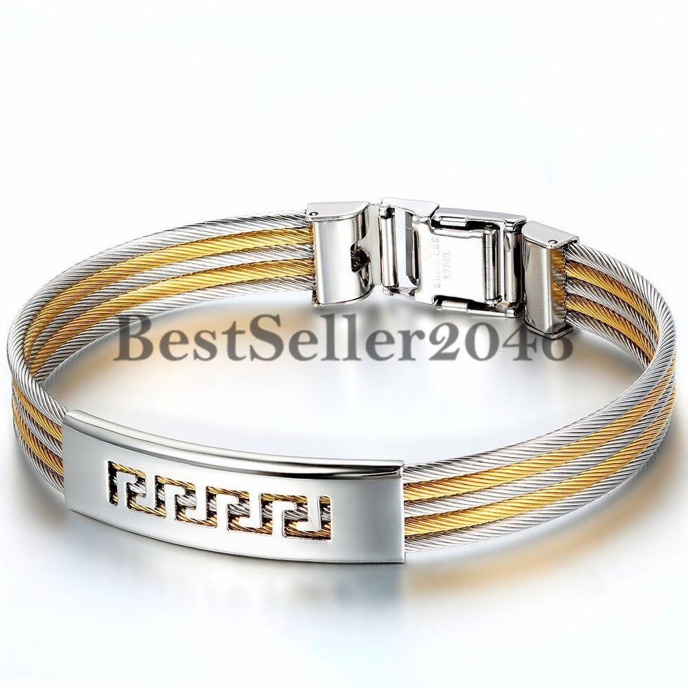 2pcs Charming Armband Silberne Schmuck Armbänder Unisex Mode Armschmuck