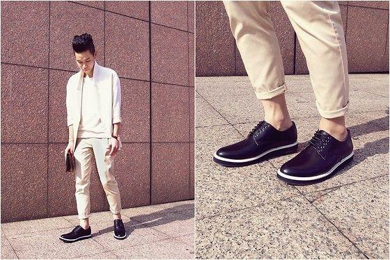 Zara Blazer, Zara T Shirt, Asos Wooden Clutch, Zara Cropped Pants, While.Tw Shoes, Daniel Wellington Watch