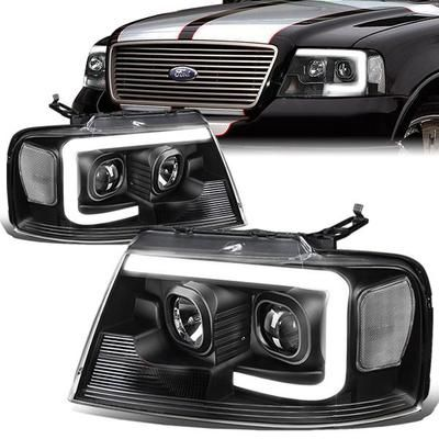 04 08 Ford F150 Lincoln Mark Lt Led Drl Projector Headlights Black Housing Clear Corner In 2020 Ford F150 Ford F150 Accessories Lincoln Mark Lt