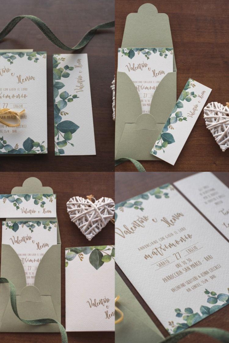 Partecipazione Matrimonio Eucalipto Partecipazioni Per Matrimonio Inviti Per Matrimonio Partecipazioni Nozze