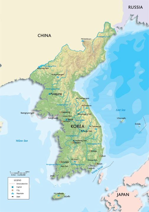 Map of south korea k travel pinterest south korea and korea world map used in north korea brilliant maps gumiabroncs Gallery