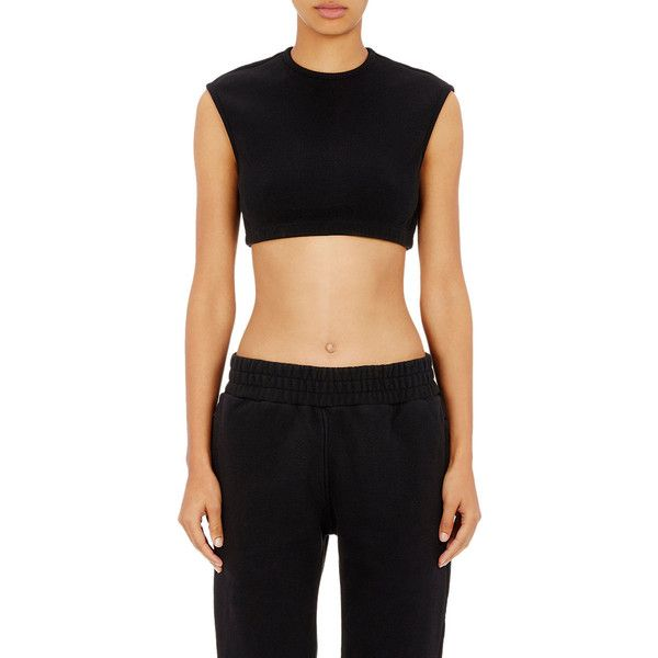 1745c8fa841e6 adidas Originals by Kanye West YEEZY SEASON 1 Crop Rib-Knit Top ( 210)