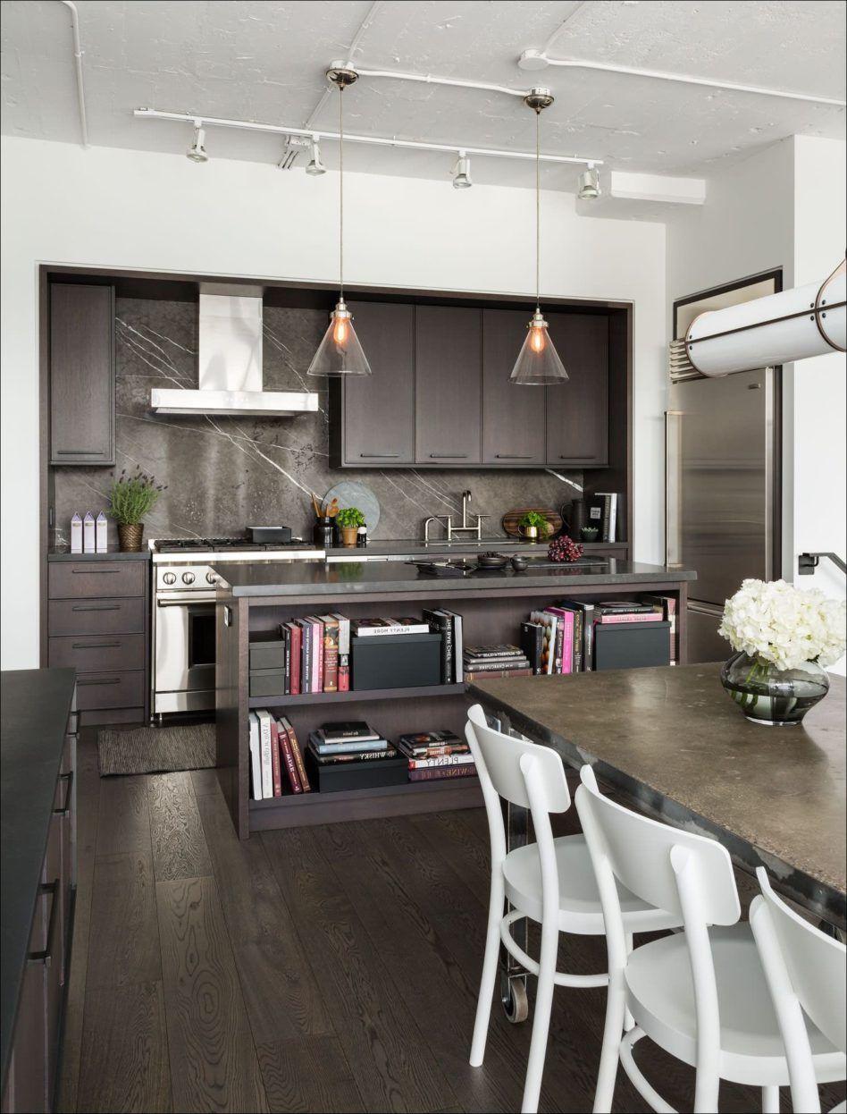 Modern Kitchen Dark Black Low Gloss Maple Laminated Wood