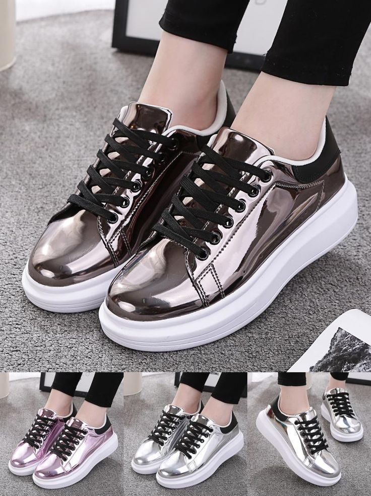 Tendance Chaussures 2018 : [Visit to Buy] Patent Leather Creepers Platform  Shoes Woman 2017 Casual Loafers ... - Vogue Tunisie