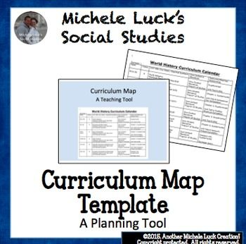 Curriculum Calendar or Map Template | Thinking CAP: About
