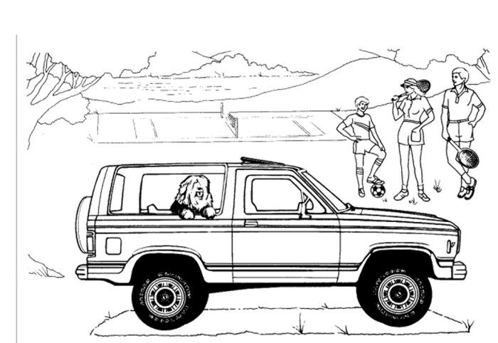 Ford Bronco Coloring Page Ford Bronco Ford Bronco Concept Bronco