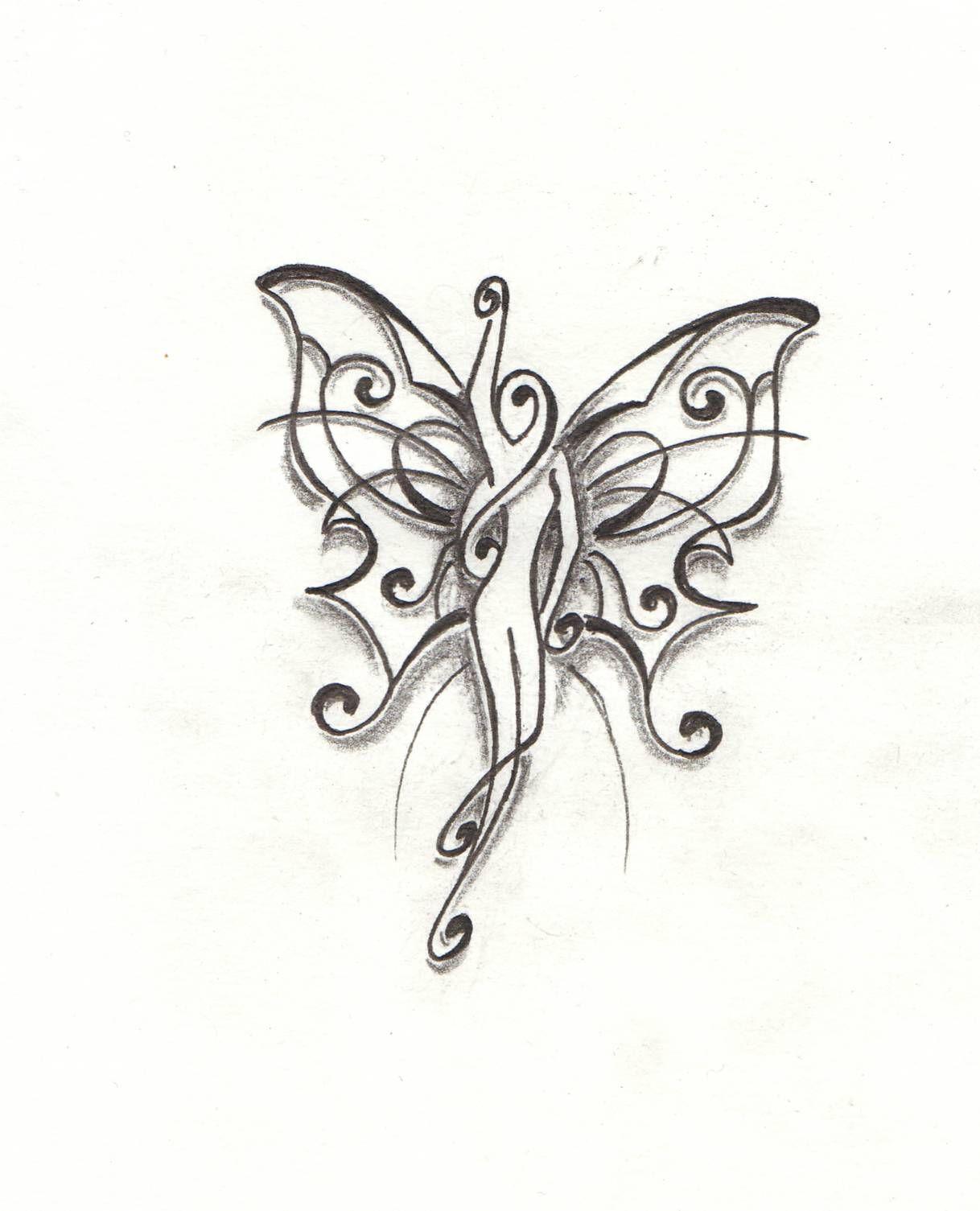 Mod le tatouage page 15 tattoocompris bonnes id es tatouage tatouage papillon et - Dessin de fee en noir et blanc ...