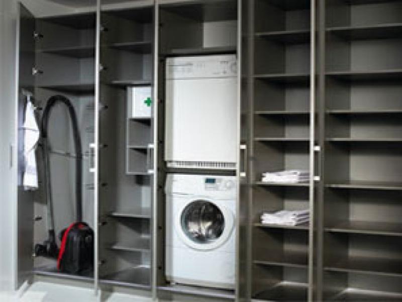 Opbergkast berging opbergidee via internet waskamer for Berging inrichten