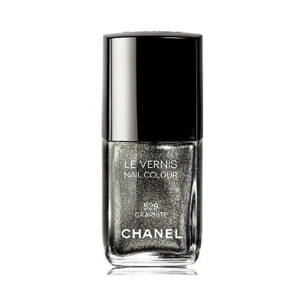 Chanel Le Vernis Nail Colour 529 Graphite Fall 2011 Collection (155 BRL) ❤ liked on Polyvore featuring beauty products, nail care, nail polish, nails, chanel, chanel nail polish, chanel nail color, chanel nail lacquer and chanel nail colour