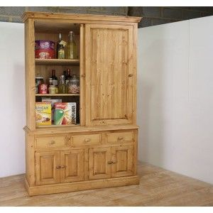 Solid Pine Larder Cupboards With Sliding Door In All Sizes & Solid Pine Larder Cupboards With Sliding Door In All Sizes | kitchen ...