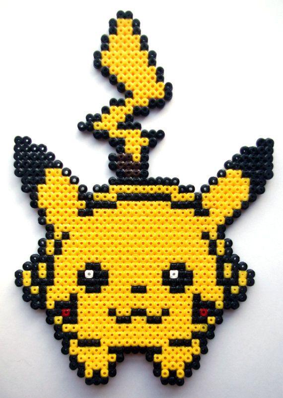 modeles hama pikachu recherche google perles hamma pinterest. Black Bedroom Furniture Sets. Home Design Ideas