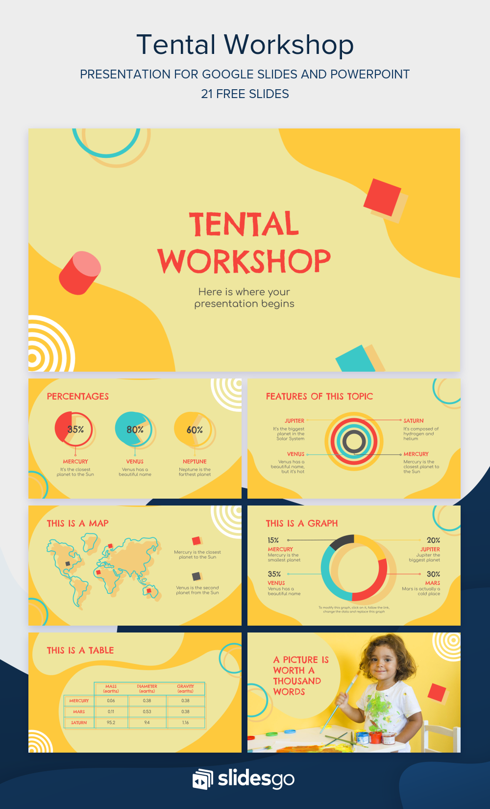 Create Your Own Arts And Crafts Workshop And Encourage Kids To Try It By Showing Them Thes Powerpoint Powerpoint Design Templates Creative Powerpoint Templates