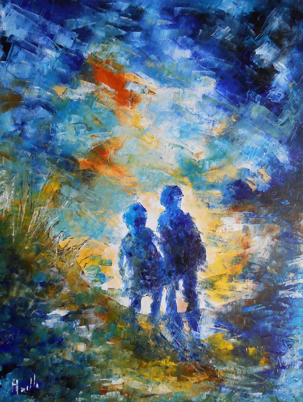 Tableau En route vers l'avenir - peintures-axelle-bosler : Peintures par  peintures-axelle-bosler | Comment peindre, Peinture, Les arts