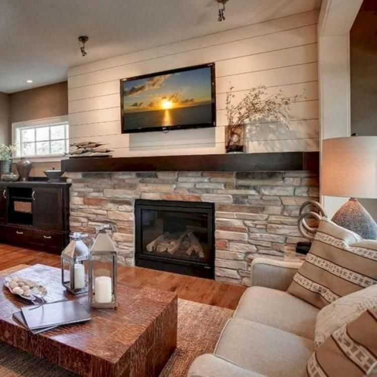20 Farmhouse Fireplace In Living Room Design Ideas Rustic Farmhouse Fireplace Farmhouse Fireplace Rustic Fireplaces
