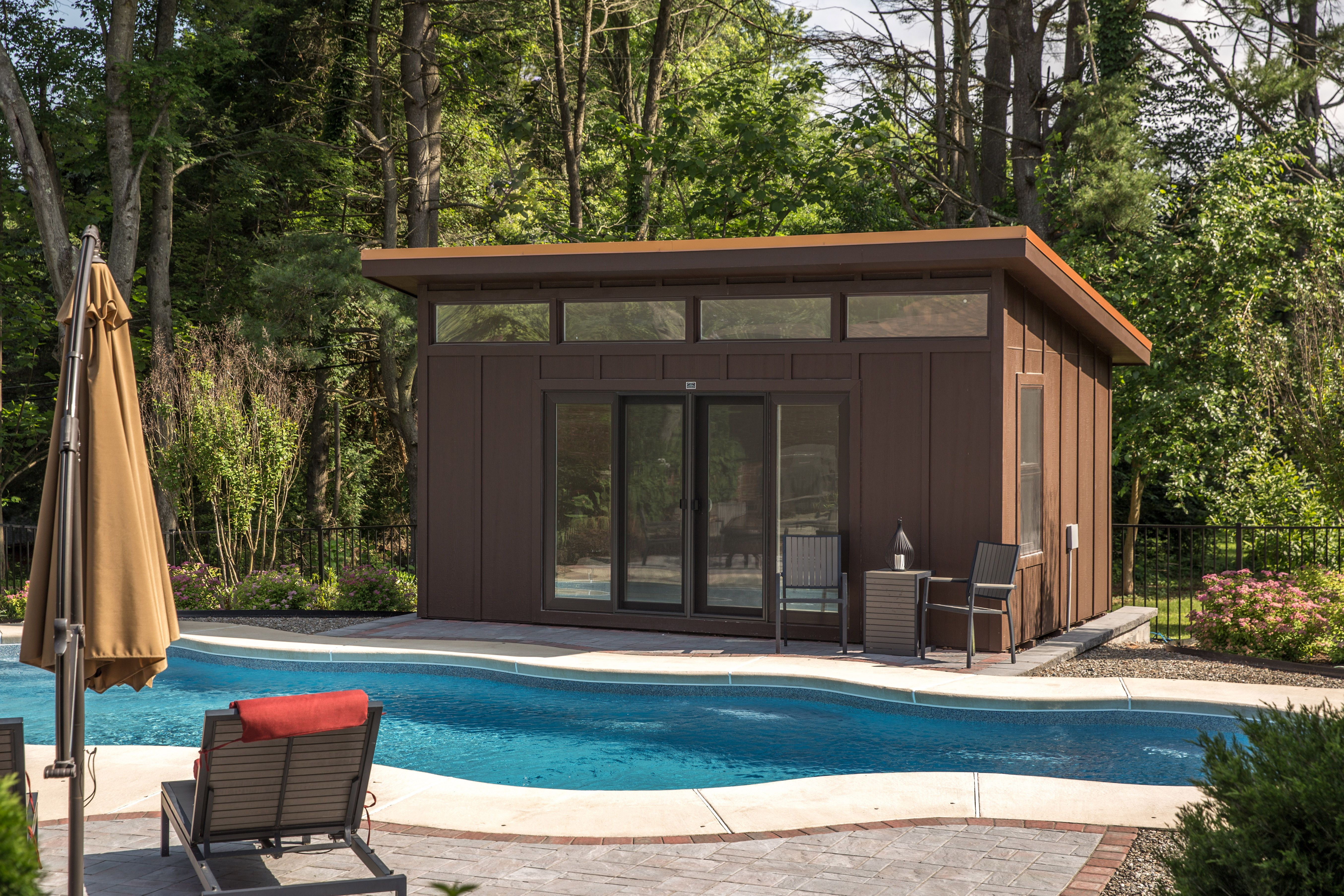 pin by wwaite on shed in 2019 modern pool house shed storage rh pinterest com