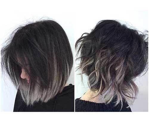 unique colored bob hairstyles
