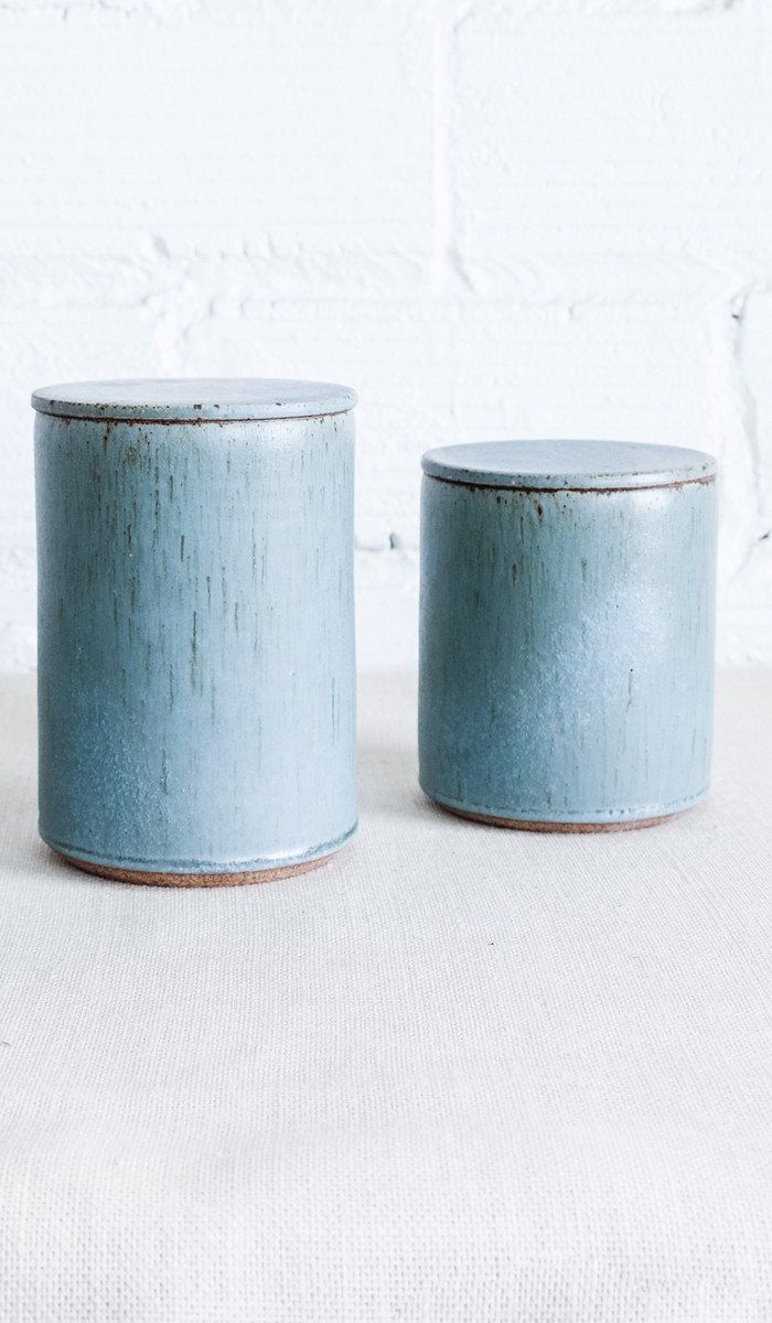 Victoria Morris Pottery Ceramic Canisters: Robin\'s Egg Speckle | THE ...