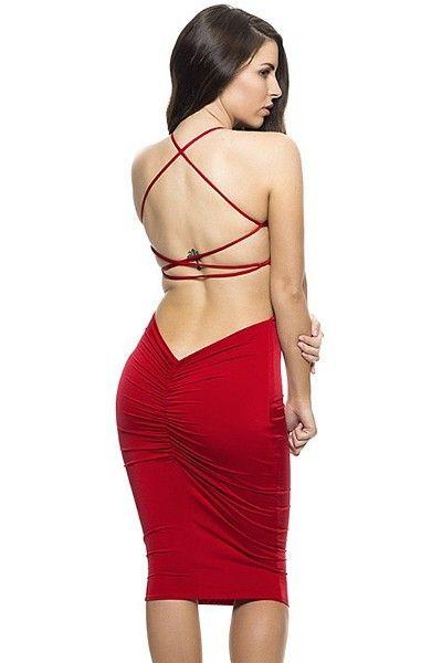 Robe de soiree courte moulante rouge