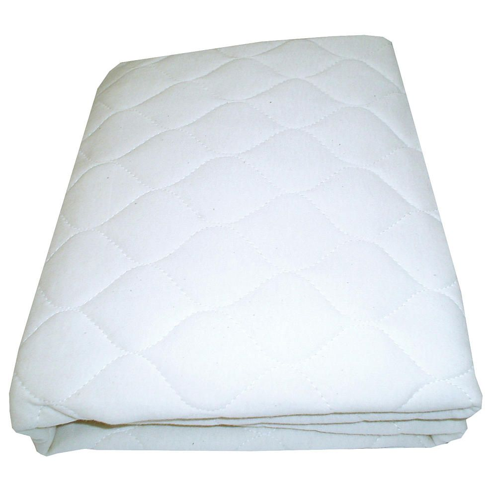 T L Care Waterproof Quilted Fitted Mattress Pad Cover For Crib Toddler Bed White T L Care T Waterproof Mattress Pad Waterproof Mattress Cradle Mattress
