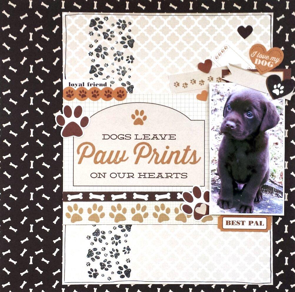 Best friend scrapbook ideas -  Paw Prints Layout By Amanda Baldwin For Kaisercraft Furry Friends Collection Scrapbook Pages