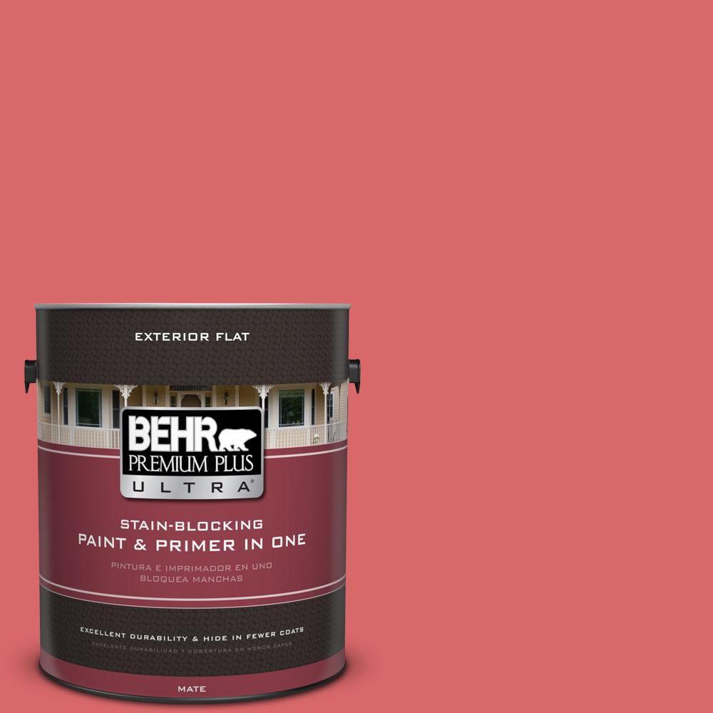 BEHR Premium Plus Ultra 1-gal. #160B-6 Coral Expression Flat Exterior Paint