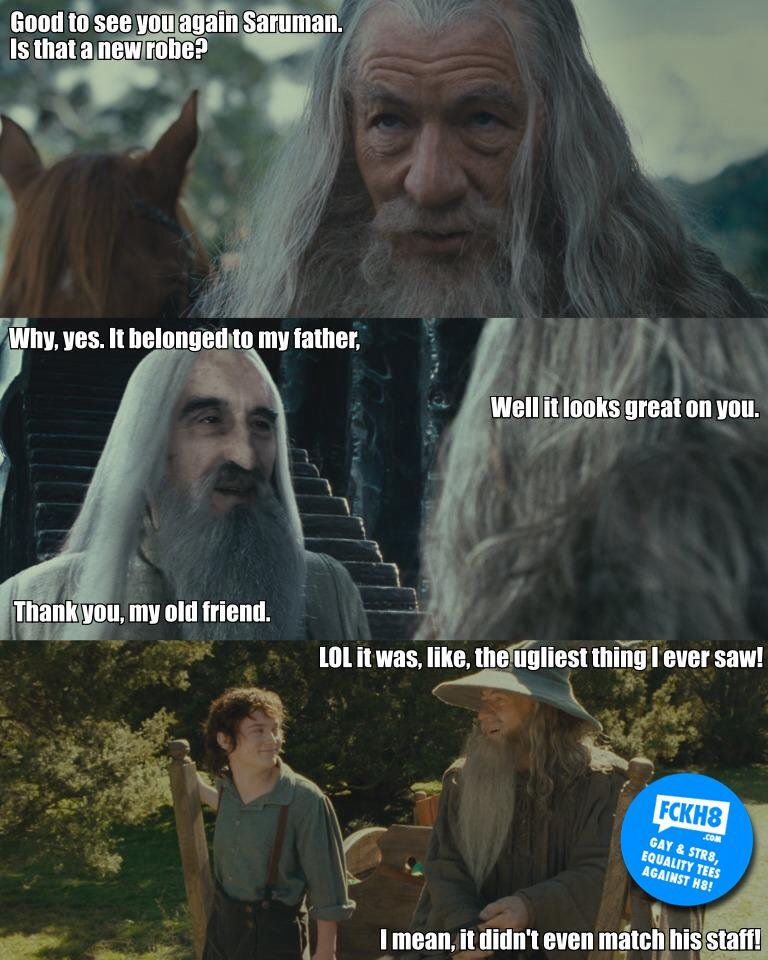 This Is Just About The Most Awesome Thing Ever Hahahaha Lord Of The Rings Lotr Funny Gandalf