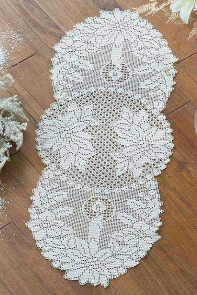 Serwetka   filet crochet patterns   Pinterest   Caminos de mesa ...