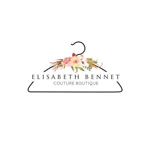 Branding Package Logo Design Flower Logo Clothes Shops Etsy Flower Logo Design Shop Logo Design Fashion Logo Design