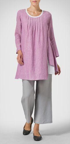 Linen Purple Top Look