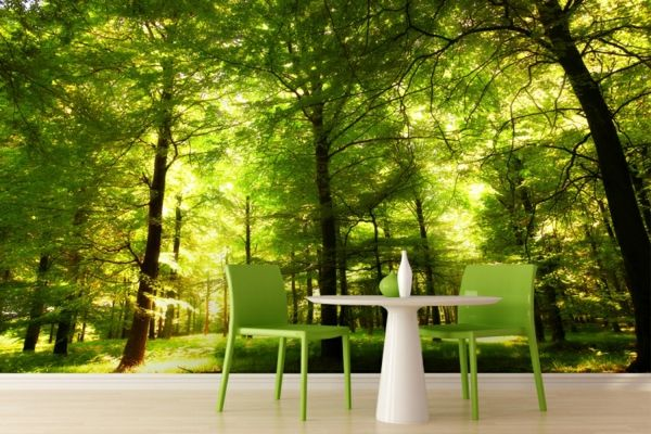 Tapeten Farben Ideen Atemberaubende Grüne Wandgestaltung