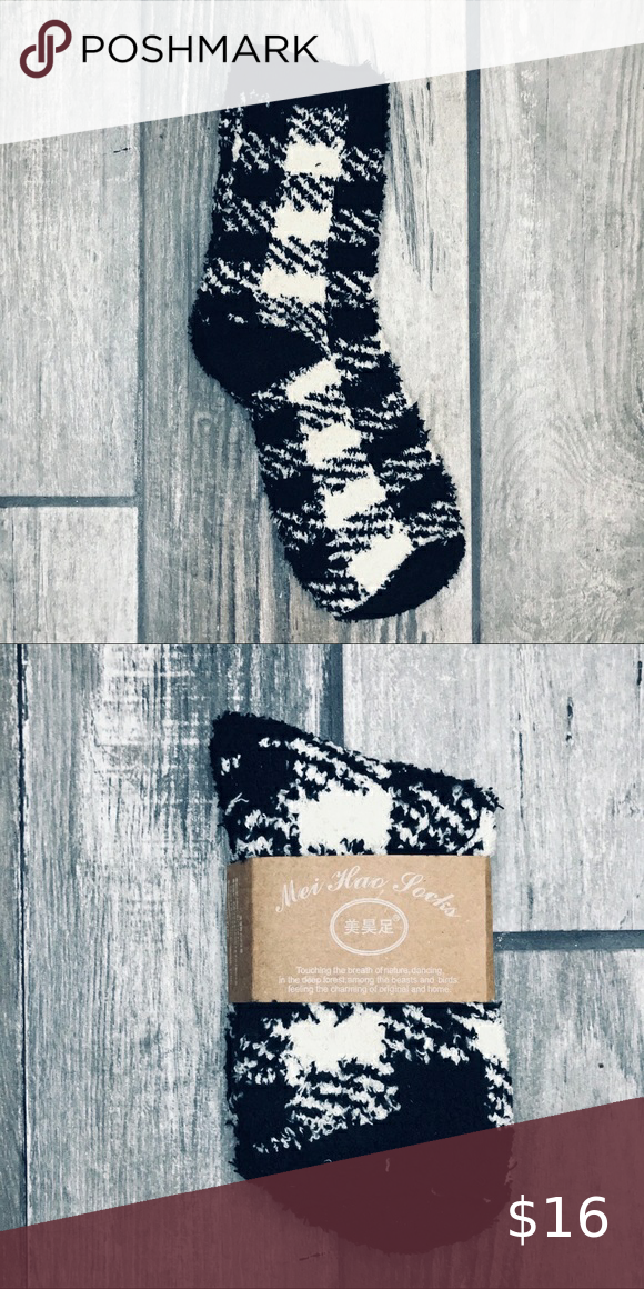 Japanese Patchwork Plaid Velvety Winter Socks