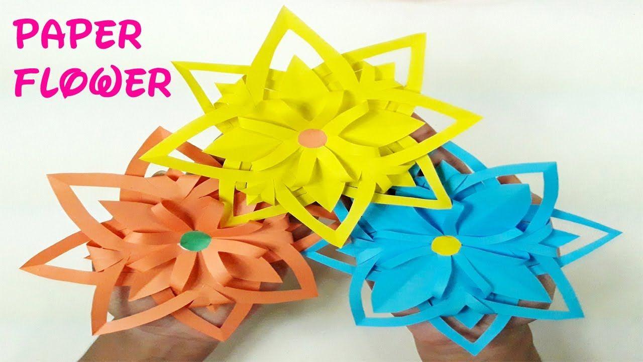 Origami Paper Flower(Easy)Paper Flower tutorial. https